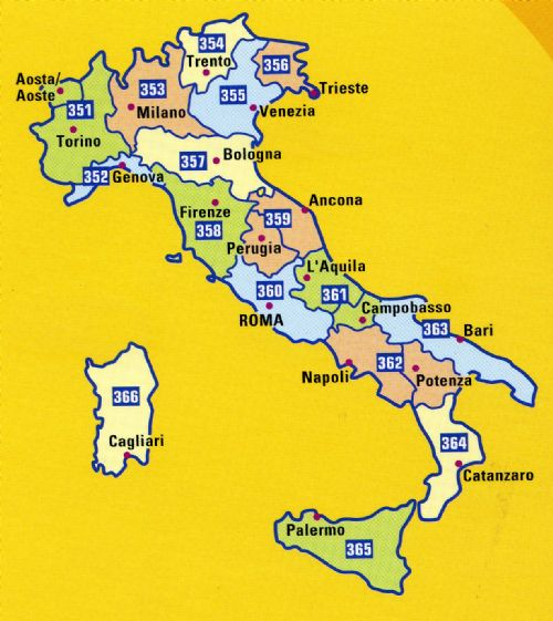 Map Of Italy Torino.Michelin Yellow Map Of Italy 1 200 000